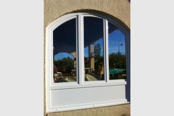 Fenêtre PVC fermeture terrasse