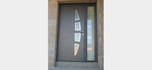 Porte d'entrée ALU contemporain avec tierce