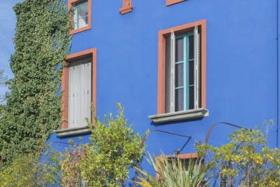 Persiennes ambiance bleue