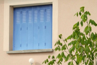 Persiennes acier bleu