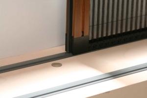 Moustiquaire plissée rail