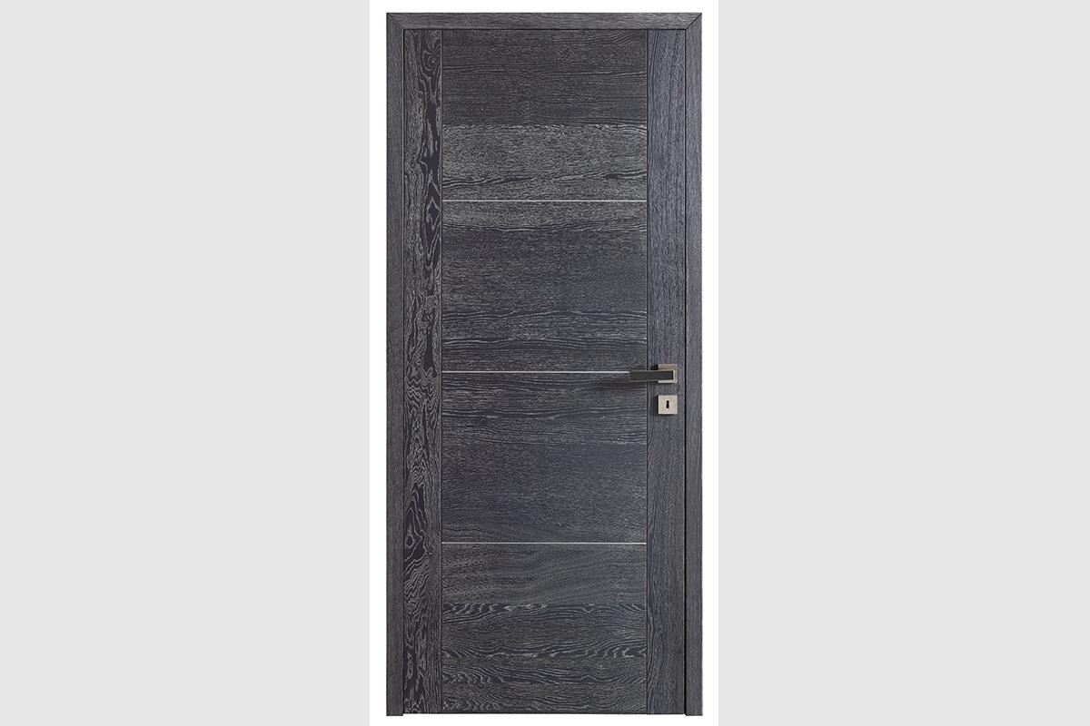 Porte intérieur ROZ Alize chêne ardoise brossé