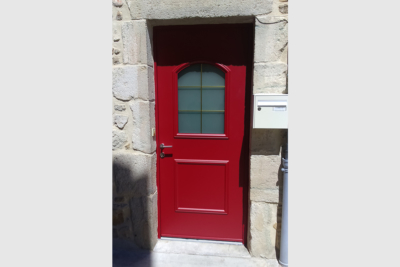 Photo Porte d'entrée aluminium bicolore
