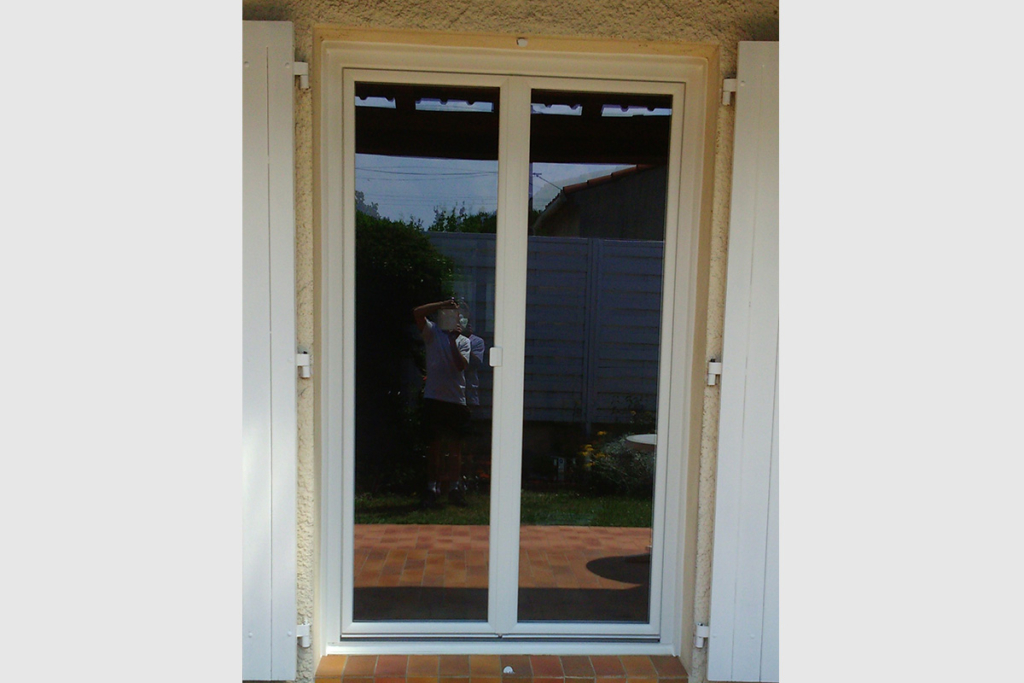 Porte Fenêtre Pvc Blanc Deux Vantaux Gma Fenêtres