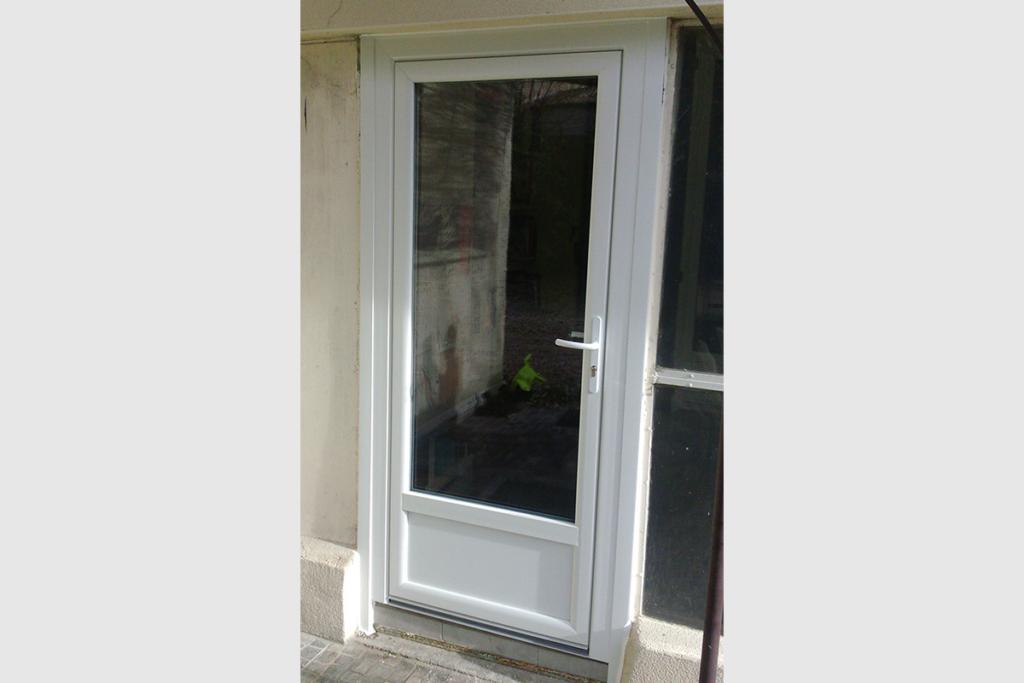 Porte-fenêtre 1 vantail PVC blanc