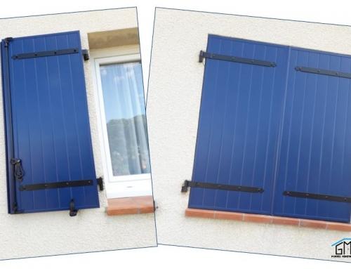 Rénovation de volets battants en aluminium à Bouillargues