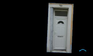 Porte d'entrée en PVC avec imposte fixe