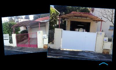 Rénovation portail battant deux vantaux