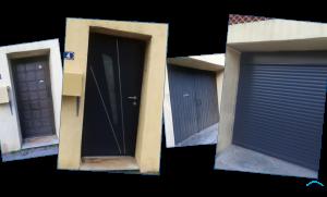 Rénovation de porte d'entrée et porte de garage