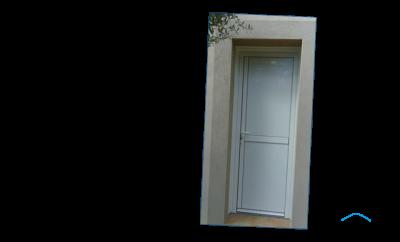 Porte de service en aluminium GMA FENETRES ALES