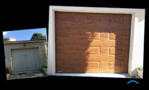 Porte de garage sectionnelle motorisée WINSOL