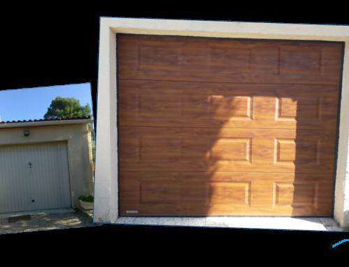 Remplacement d'une porte de garage sectionnelle à Saint-Privat des Vieux
