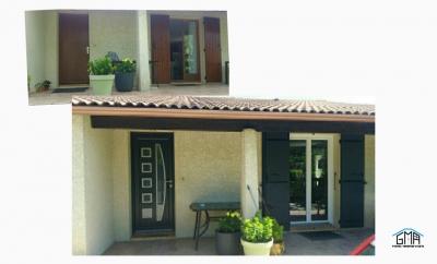 Porte d'entrée et volets battants en aluminium par GMA Fenêtres à Alès