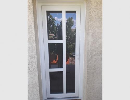 Porte d'entrée PVC blanc modèle IBIZA