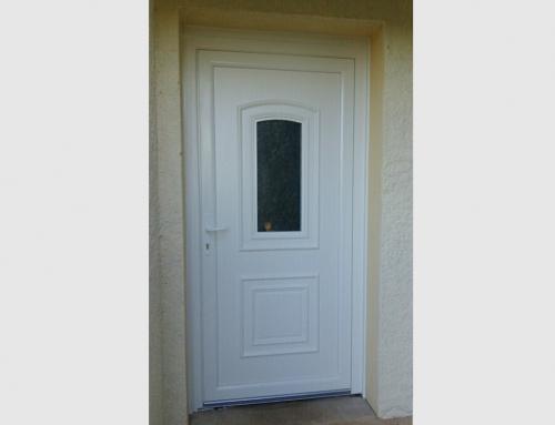 Porte d'entrée PVC blanc modèle TAHITI