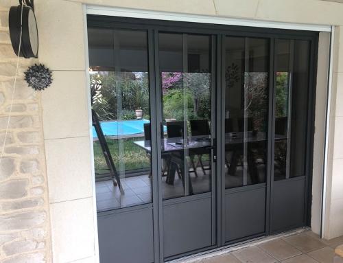 Porte-fenêtre en aluminium 4 vantaux