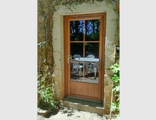 Porte fenetre pvc imitation bois