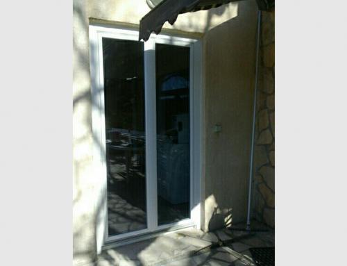Porte fenetre PVC blanc 2 vantaux