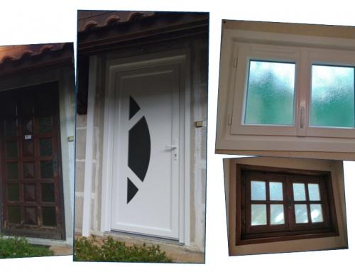 Fenêtres et porte d'entrée en PVC
