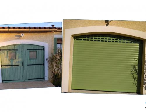 Nouvelle porte de garage en aluminium enroulable motorisée
