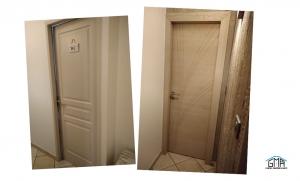 Porte interieur bois chene GMA Fenêtres Alès