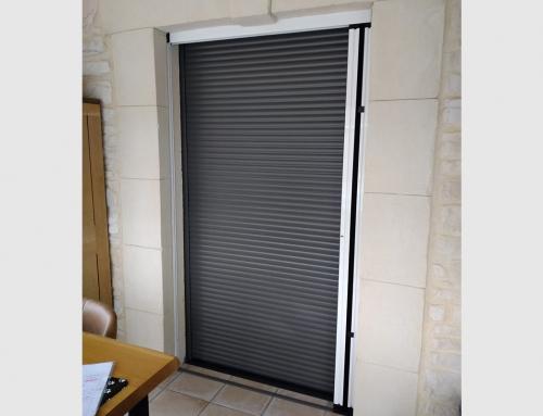 Porte-fenêtre aluminium avec volet roulant intégré