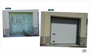 Porte de garage sectionnelle manuelle GMA Fenetres Ales