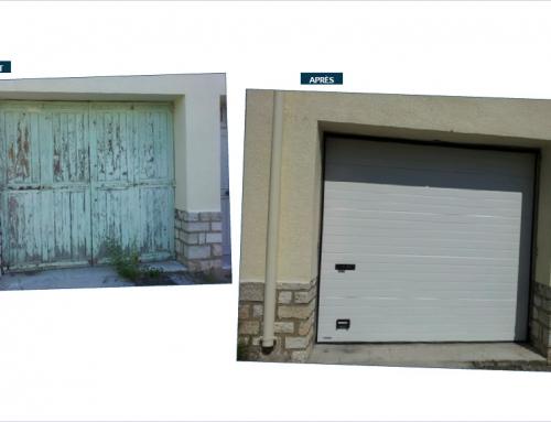 Nouvelle porte de garage sectionnelle manuelle blanche