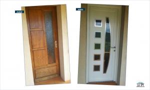 Porte d'entrée an PVC par GMA Fenêtres Alàs