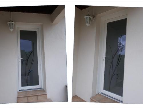 Porte d'entrée en PVC avec vitrage Verrissima