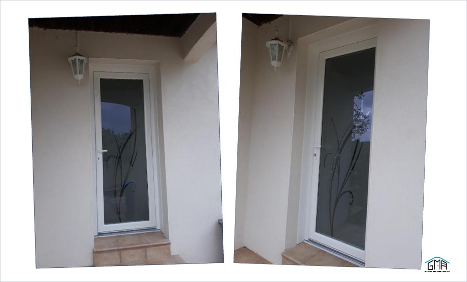 Porte d'entrée en PVC avec vitrage verrissima GMA Fenêtres Alès