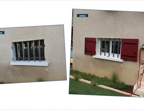 Fenêtres en PVC et volets battants en aluminium