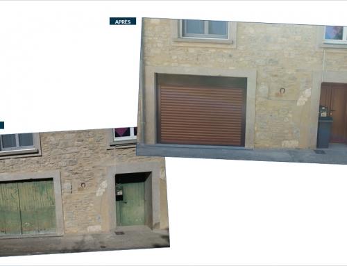 Remplacement d'une porte d'entrée et d'une porte de garage