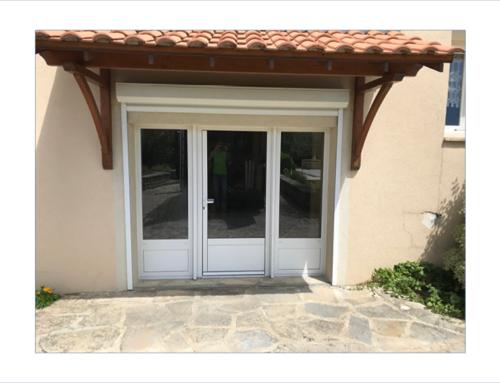 Porte-fenêtre 3 vantaux en aluminium