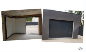 Porte de garage à déplacement latéral GMA Fenêtres Alès
