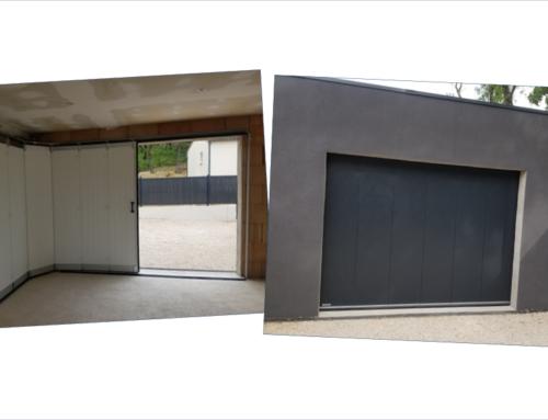 Porte de garage à déplacement latéral en aluminium
