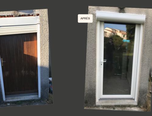 Rénovation porte d'entrée avec volet roulant