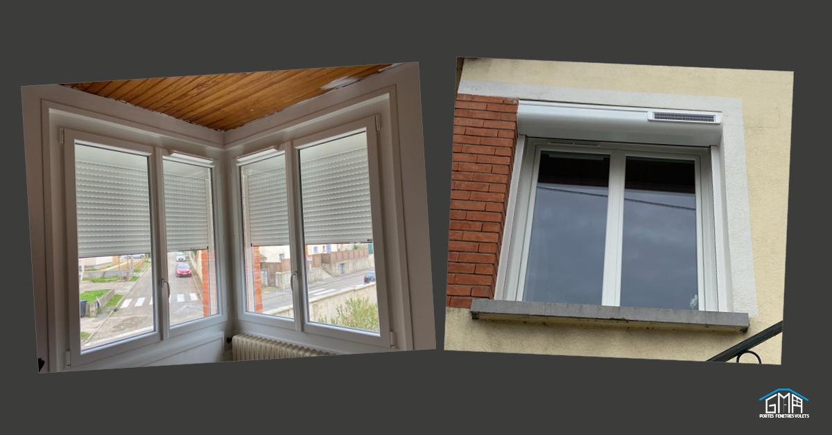 Fenêtre PVC et volets roulants solaires posés par GMA Fenêtres Alès
