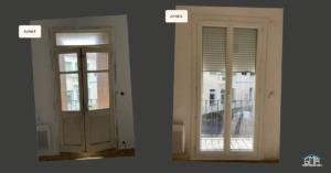 Porte fenêtre en PVC et volet roulant aluminium motorisé par GMA Fenêtres Alès