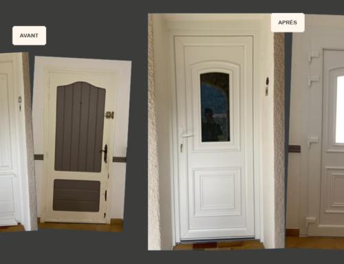 Rénovation d'une porte d'entrée