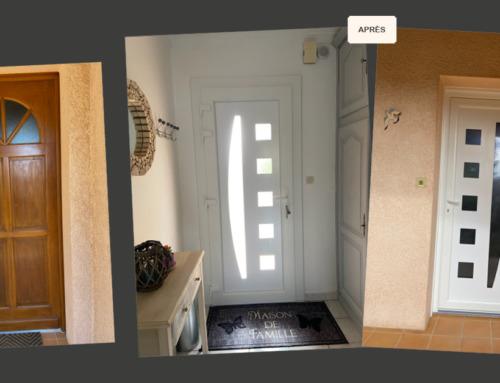 Rénovation d'une porte d'entrée en PVC