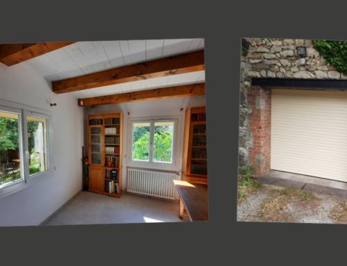 Fenêtres en PVC et porte de garage enroulable