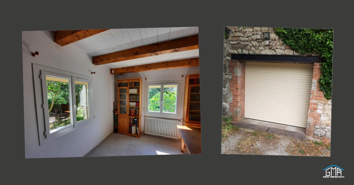 Fenêtres en PVC et porte de garage enroulable par GMA Fenêtres Alès
