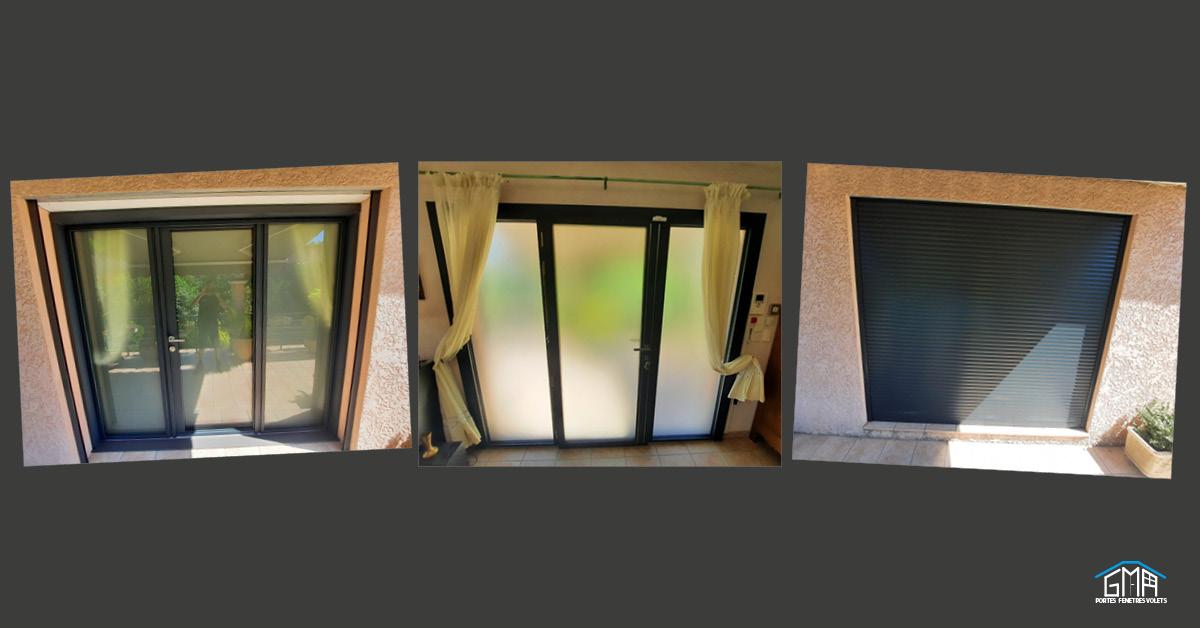 Menuiseries en aluminium KLINE par GMA Fenêtres Alès