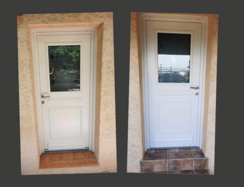 Remplacement de deux portes d'entrée