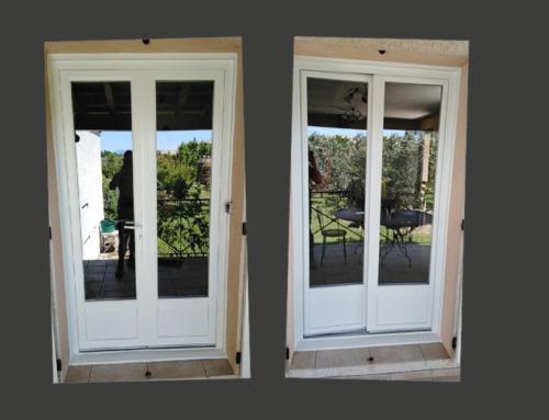 Portes-fenêtres en PVC blanc