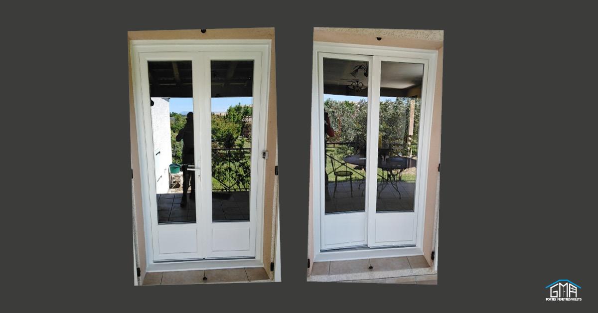 Portes-fenêtres en PVC blanc par GMA Fenêtres à Alès