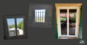 Fenêtre et porte-fenêtre en PVC blanc par GMA Fenêtres Alès